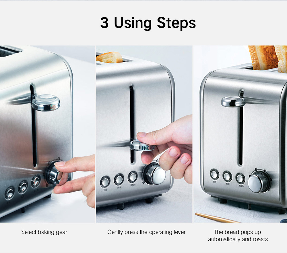 deerma DEM - SL281 Scented Bread Toaster from Xiaomi Youpin- Platinum