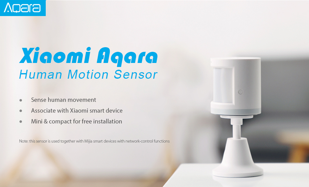 Aqara RTCGQ11LM Smart Home Human Motion Sensor Security Device ( Xiaomi Ecosystem Product )- White