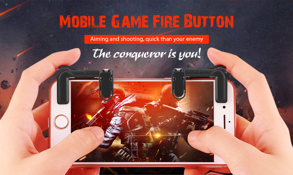 Mobile Game Fire Button Aim Trigger Shooting Controller 2PCS