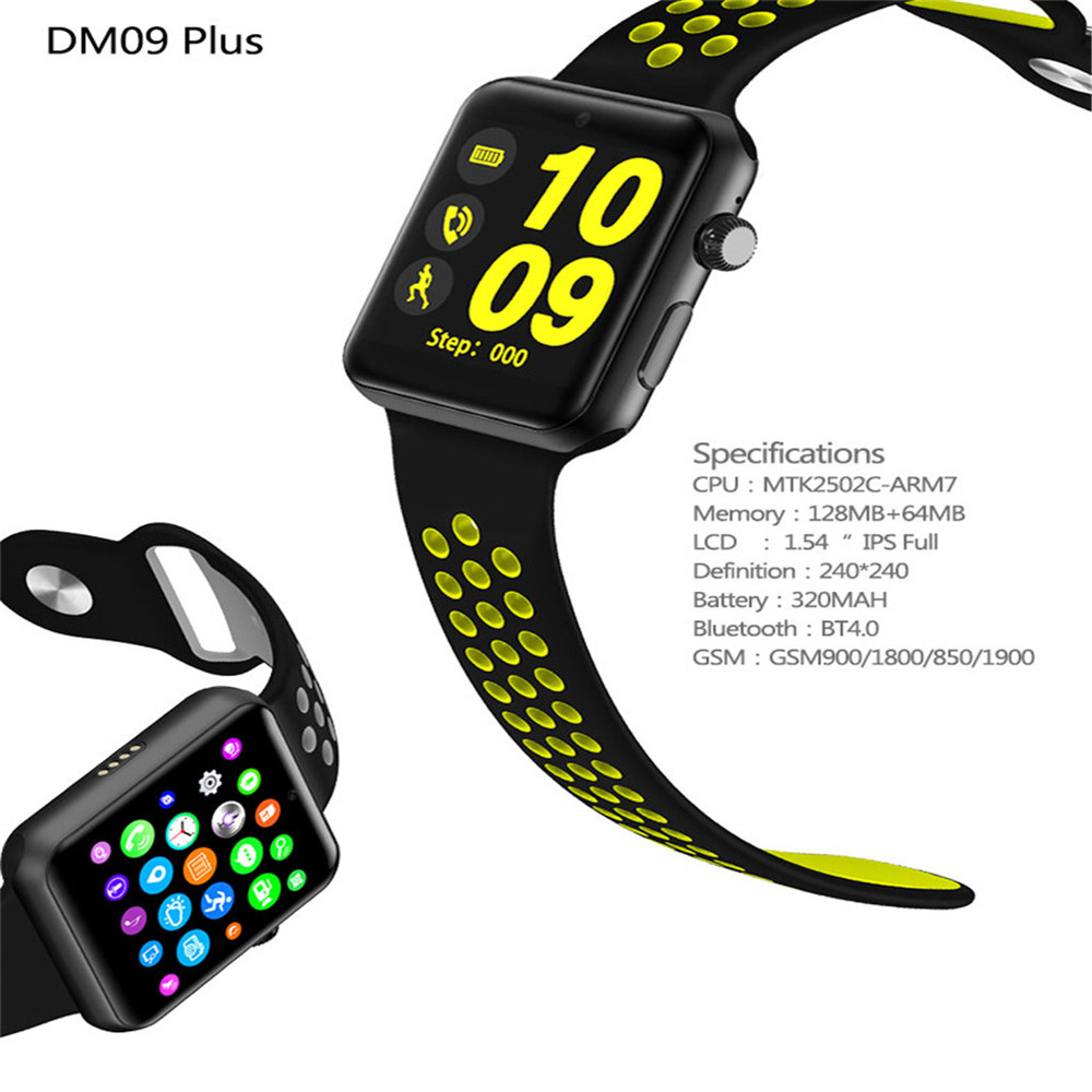 DM09 Plus Camera Smart Watch- Silver