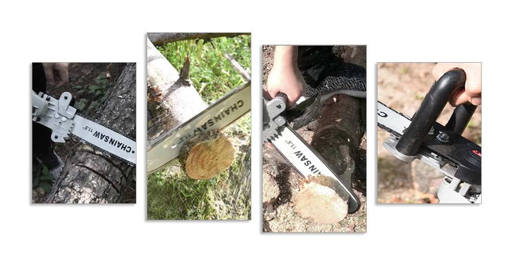 Multi-function Portable Hand-held Logging Chain Saw - Silver