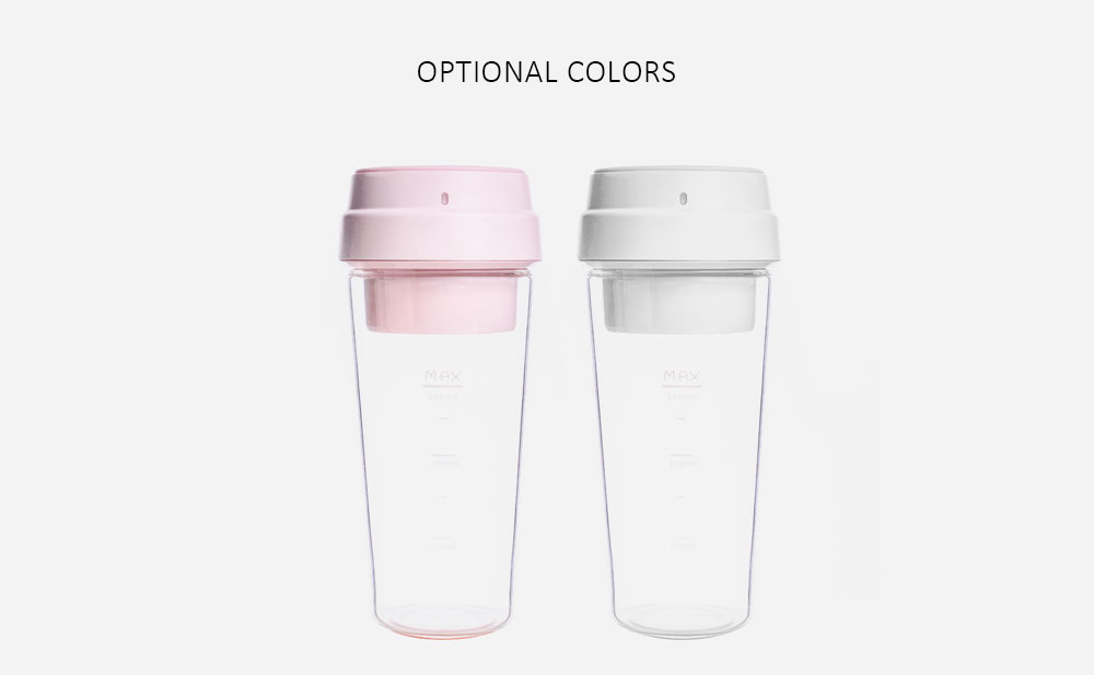 From Xiaomiyoupin 17PIN 400ML Portable DIY Fruit Juicing Extractor Cup Magnetic Outdoor Travel Bottle- Pink