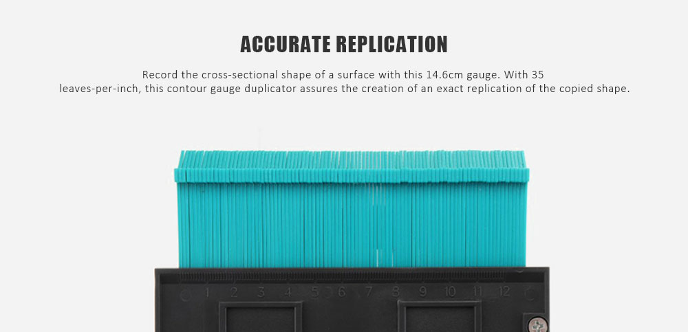 Contour Profile Gauge Multifunctional Woodworking Tools- Peacock Blue