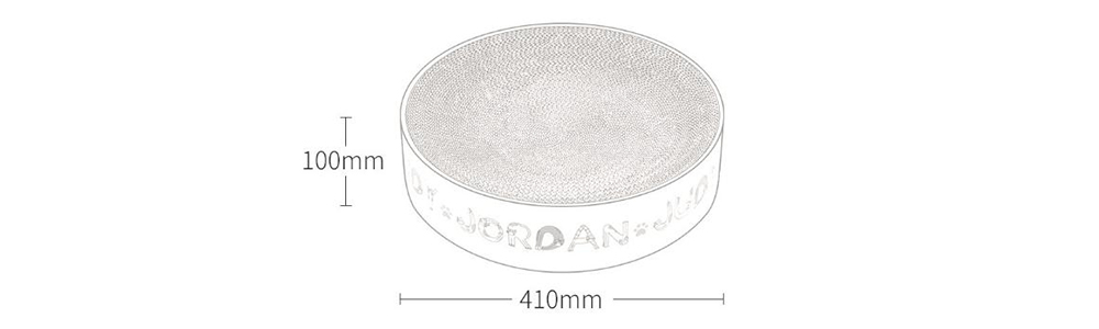 Round Pad Corrugated Cat Scratcher Kitten Scratch Board Soft Bed Mat Claws Care Pet Toy from Xiaomi youpin- Milk White