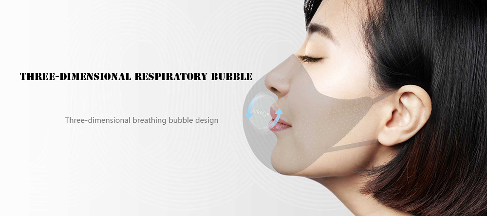 Xiaomi AirPOP Light 360 Degrees PM2.5 Anti-haze Face Mask Skin-friendly Material Anti-bacterial- Black