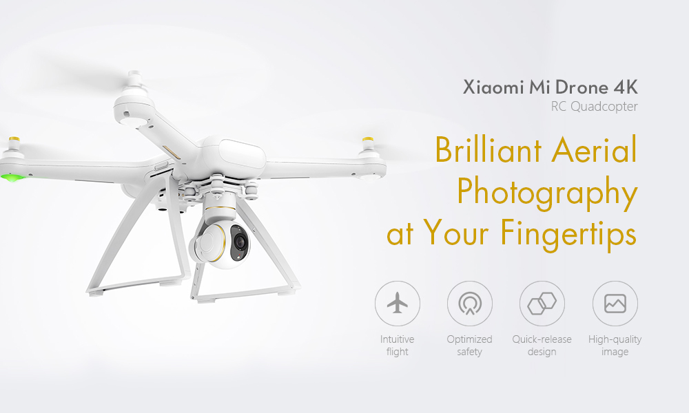 Xiaomi Mi Drone HD 4K WIFI FPV 5GHz Quadcopter Tap to Fly- White CN Plug with WiFi Connector