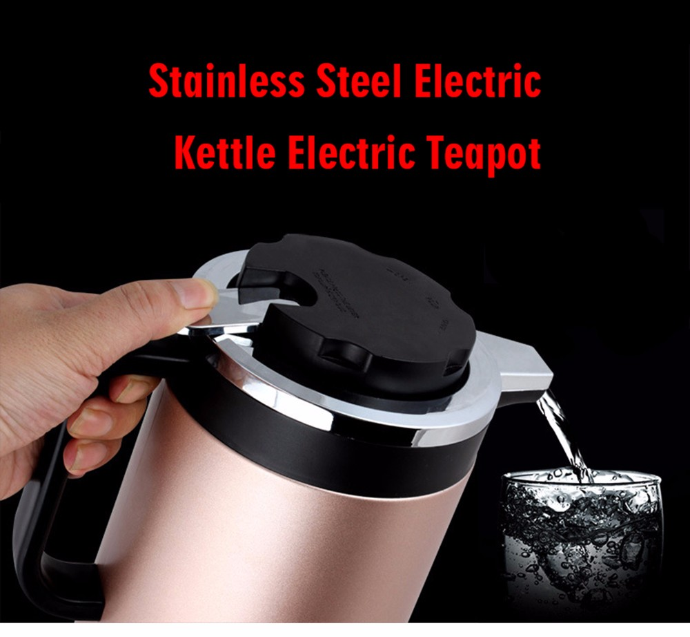 Stainless Steel Electric Kettle Electric Teapot - Pink Rose