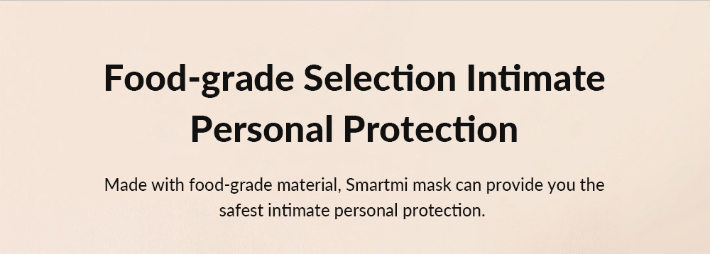 Smartmi Light Breathing PM2.5 Anti-haze Face Masks Skin-friendly Material Anti-bacterial 3pcs ( Xiaomi Ecosystem Product )- Dark Gray M