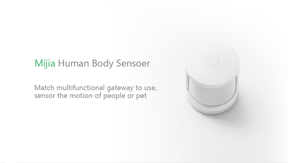 Xiaomi Mijia Smart Human Body Motion Sensore Connessione wireless ZigBee- Bianca