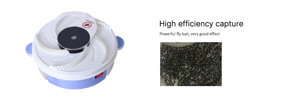 Electric Household Fly Trap Device Insect Catcher- White