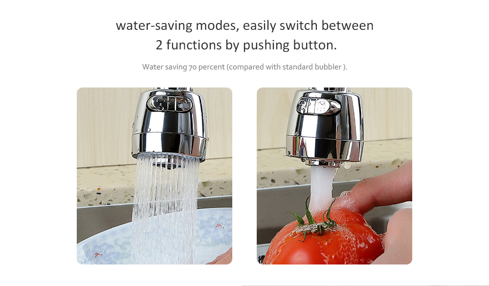 Stainless Steel Water-saving High Pressure Kitchen Faucet- Silver