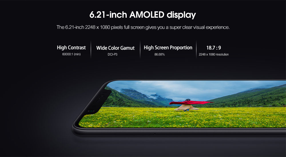 Xiaomi Mi 8 4G Phablet 6.21 inch Android 8.1 Snapdragon 845 Octa Core 2.8GHz 6GB RAM 64GB ROM Fingerprint Sensor 3400mAh Built-in- Black