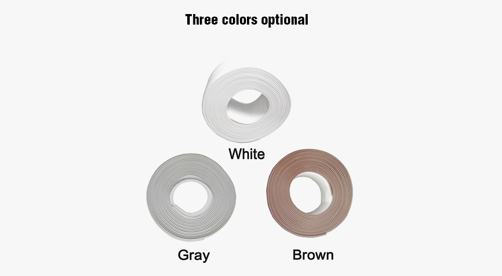 Kitchen Bathroom Self Adhesive Wall Seal Ring Tap Water Resistant Mold Proof- Gray Gray