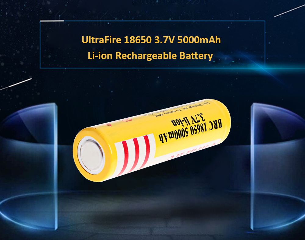 Ultrafire 18650 High Capacity 37v 5000mah Li Ion Rechargeable Quot2400mahquot Liion Batteries W Protected Circuit Battery 1 Pack Yellow