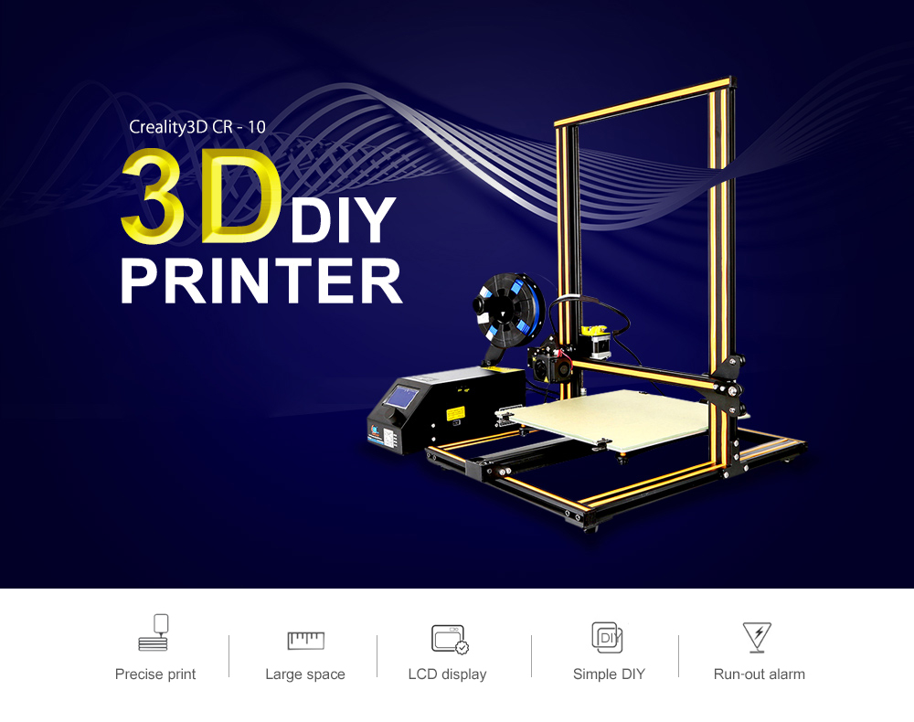 Creality3d Cr 10 3d Printer 36999 Free Shipping Work On An Arduino Nano Pinout Diagrams Big Dan The Blogging Man Large Size Desktop Diy Lcd Screen Display With Sd Card