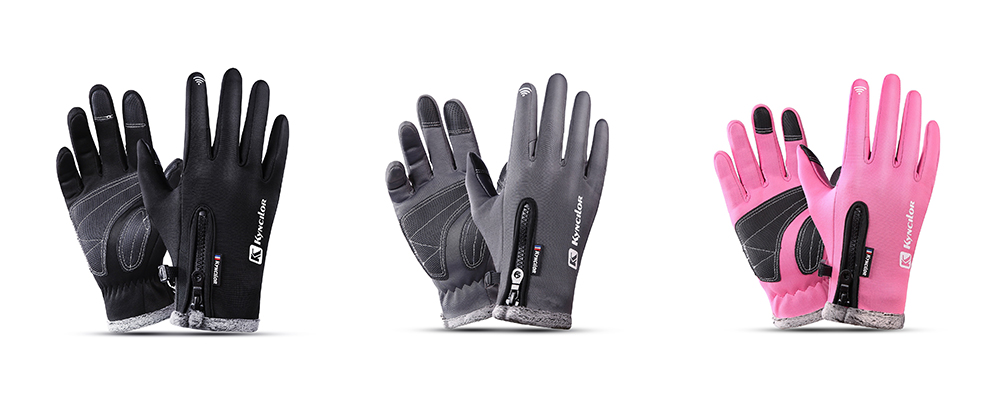 Outdoor Waterproof Windproof Men's Gloves for Riding Mountaineering Ski - Black L