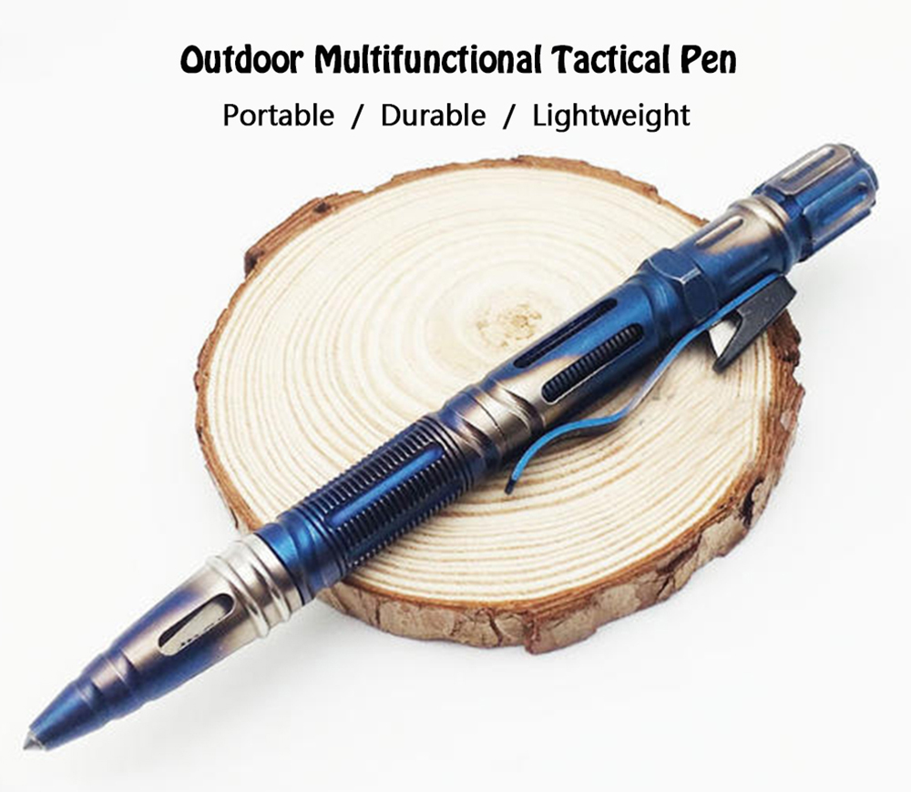 Multi-function Tactical Pen Outdoor Survival Equipment- Blueberry Blue