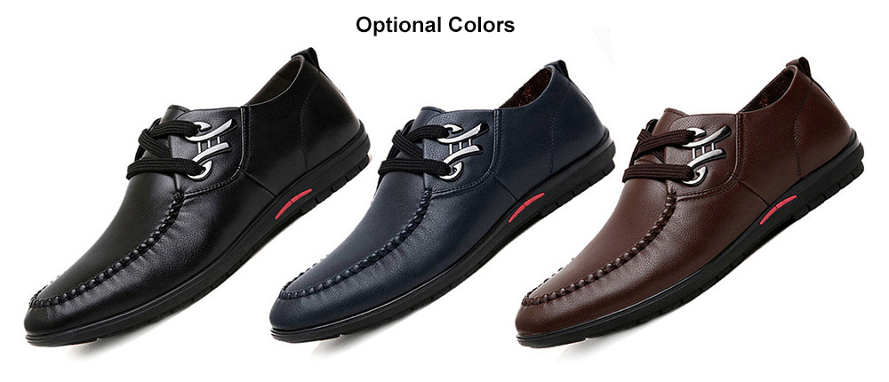 625a5f05168 Fashion Business Soft Anti-slip Leather Casual Shoes for Men- Black 41