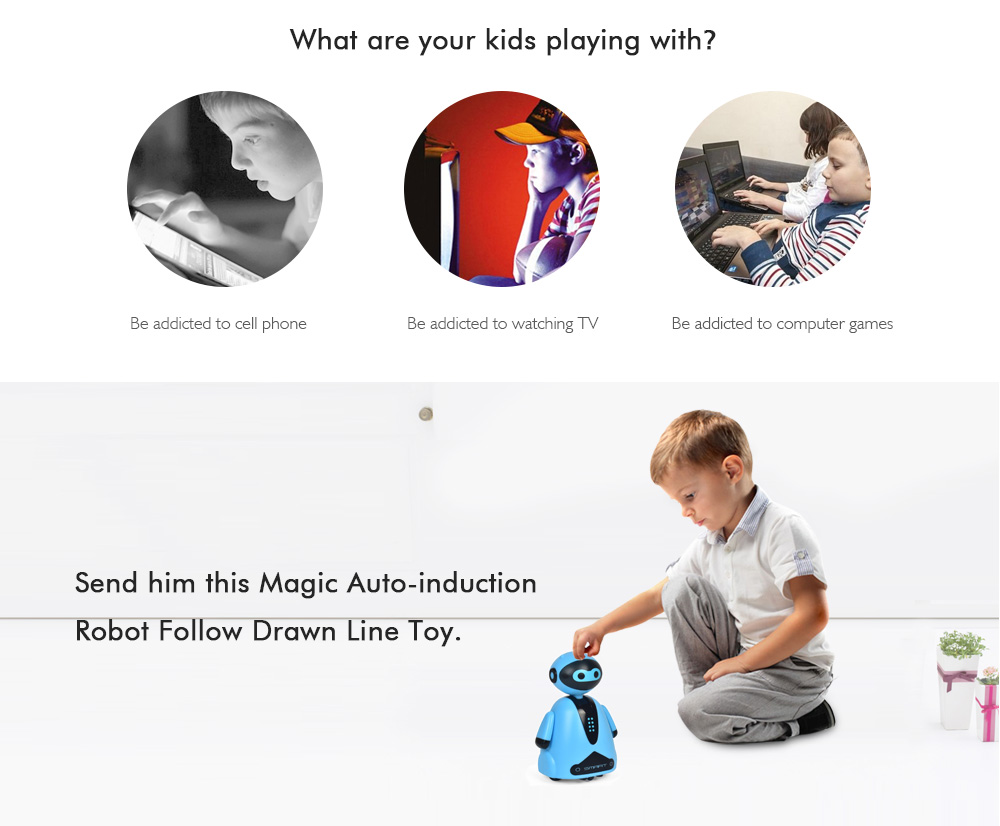 Magic Auto-induction Follow Drawn Line Toy- Black