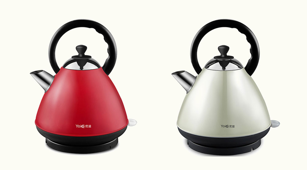 YZ - X6 Electric Kettle Stainless Steel Automatic Power Off Household Insulation Equipment- Red