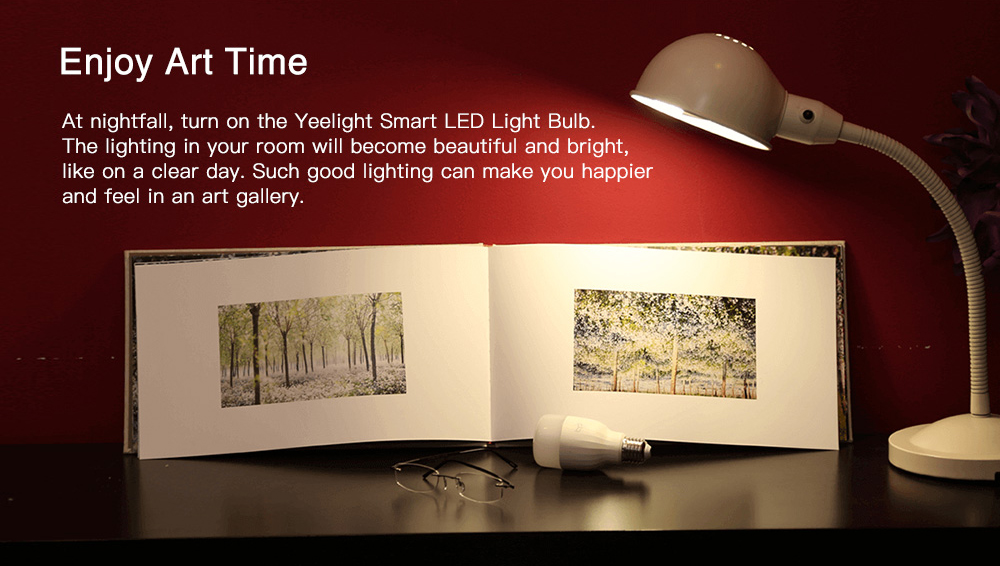 Yeelight YLDP05YL Smart LED Bulb Adjustable Color Temperature for Living Room Bedroom ( Xiaomi Ecosystem Product )- White 1Pc