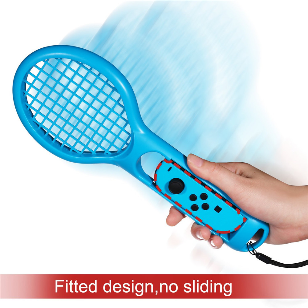 Twin Pack Tennis Racket for Nintendo Switch Joy-Con Controller