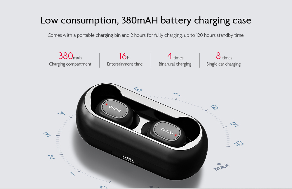 QCY T1C True Wireless Earbuds Pakistan brandtech.pk