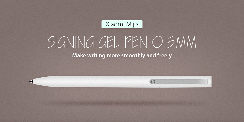 Xiaomi Mijia 0.5mm Sign Pen Writing Stationery- White