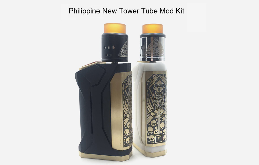 Philippine New Tower Tube Mod Kit Supporting 2pcs 18650 Battery