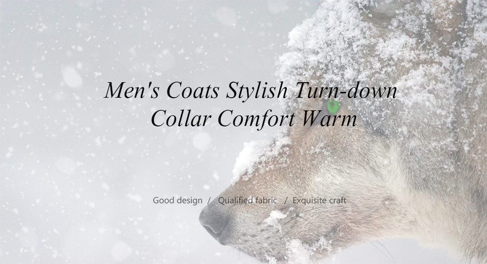 Men's Coats Stylish Turn-down Collar Comfort Warm- Dark Gray L