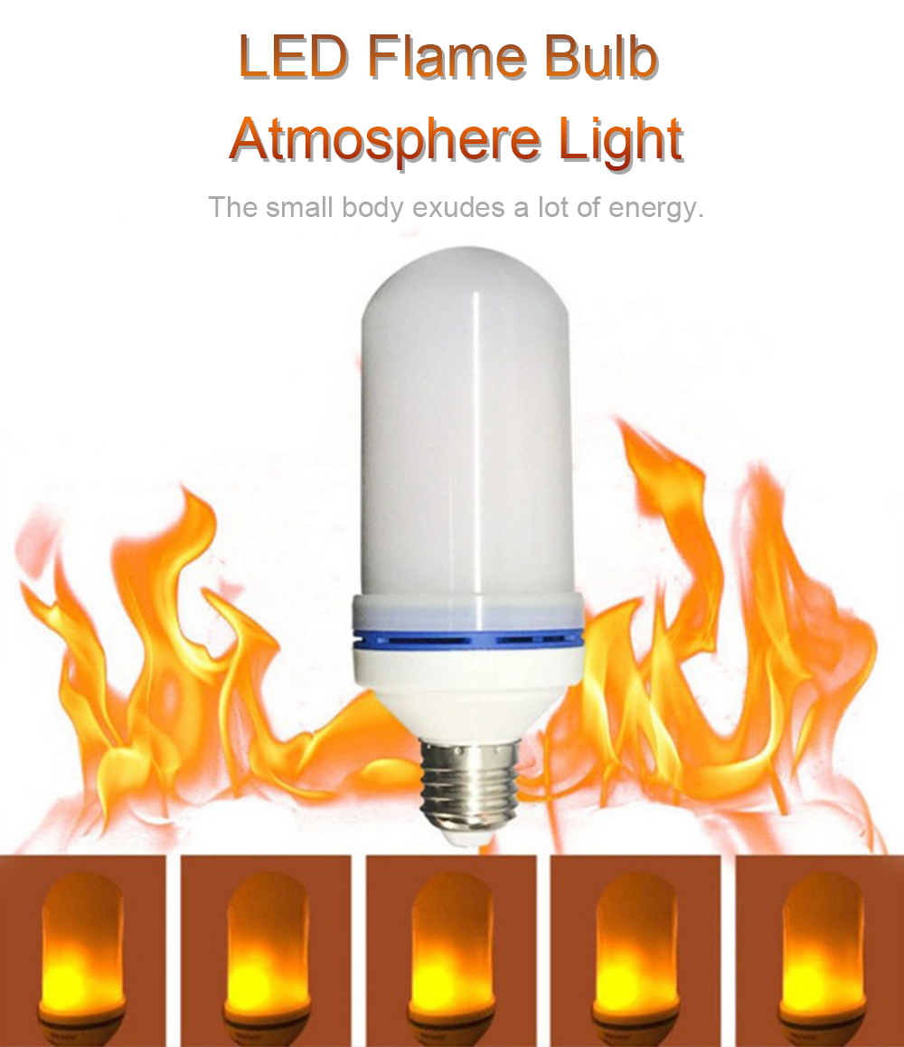 LED Flame Bulb Atmosphere Light for Home Decoration - Orange Gold E27 Third gear with gravity induction