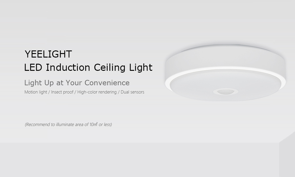 Yeelight YLXD09YL Human Body / Photosensitive Sensor Induction LED Ceiling Light AC220 - 240V 3PCS- White 3PCS