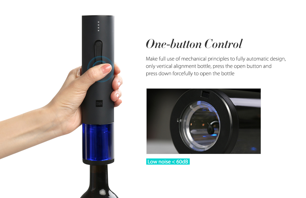 Xiaomi Mijia Creative Wine Electric Bottle Opener from Xiaomi Mijia- Black
