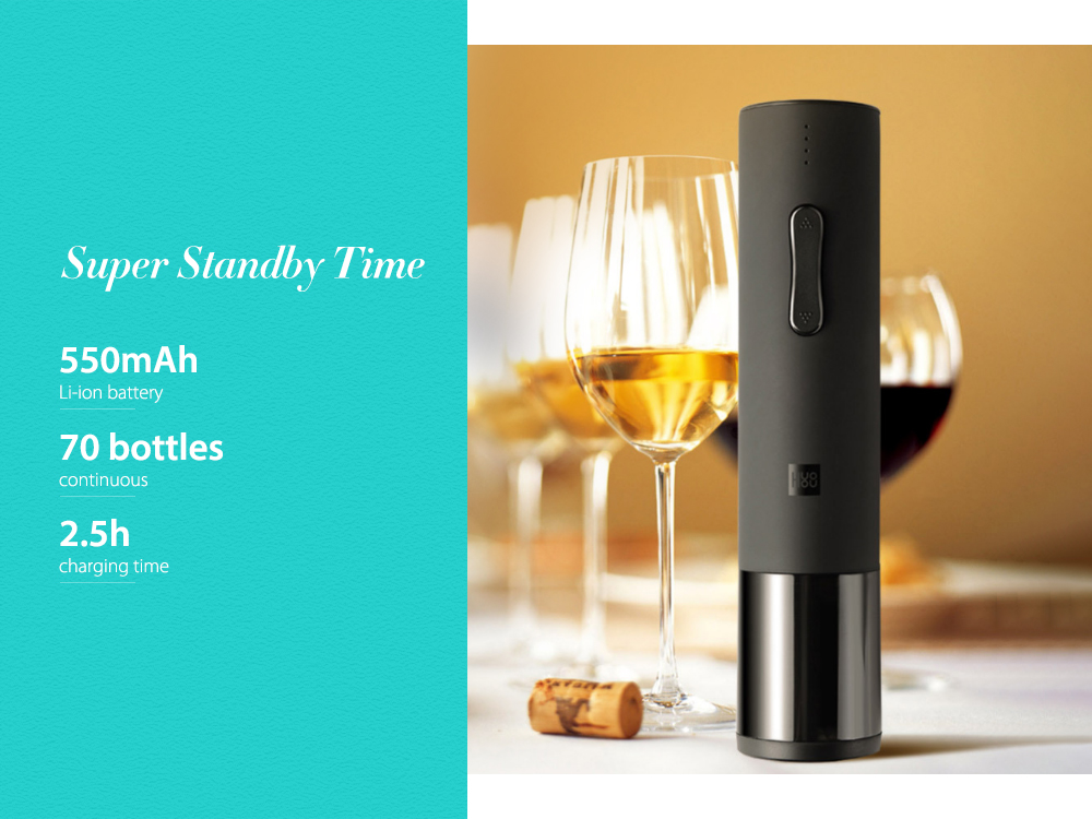 Creative Wine Electric Bottle Opener from Xiaomi Mijia- Black