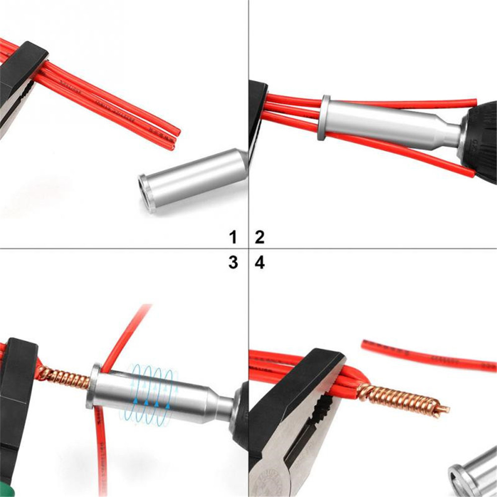 Cable Connector Wire Stripper Twister Electrical Cable Quick Stripping and Twisting Wire Cable Wire Twisting Tool Round