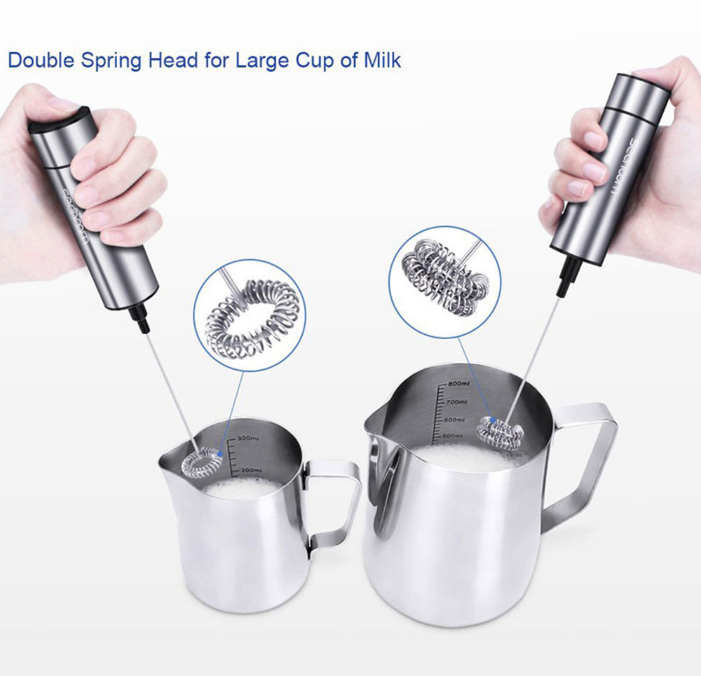 Stainless Steel Electric Mini Milk Blender- Silver