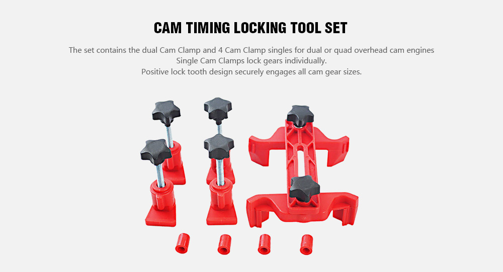 Camshaft Engine Cam Locking Tool- Bean Red