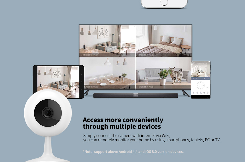 XIAOMI CHUANGMI CMSXJ01C 720P Smart Camera IR Remote Control / Wireless WiFi / Motion Detection- White