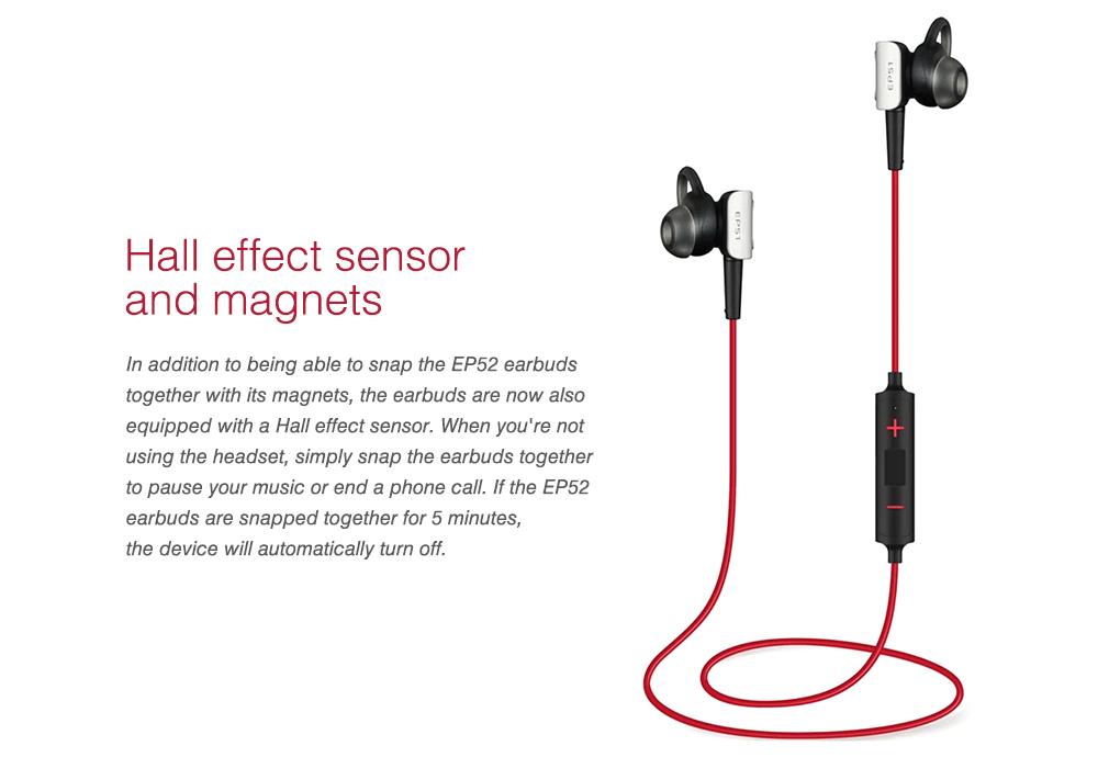 4f3b0c1e577 MEIZU EP51 Bluetooth Earphone Wireless Sports HiFi Earbuds International  Edition- Love Red