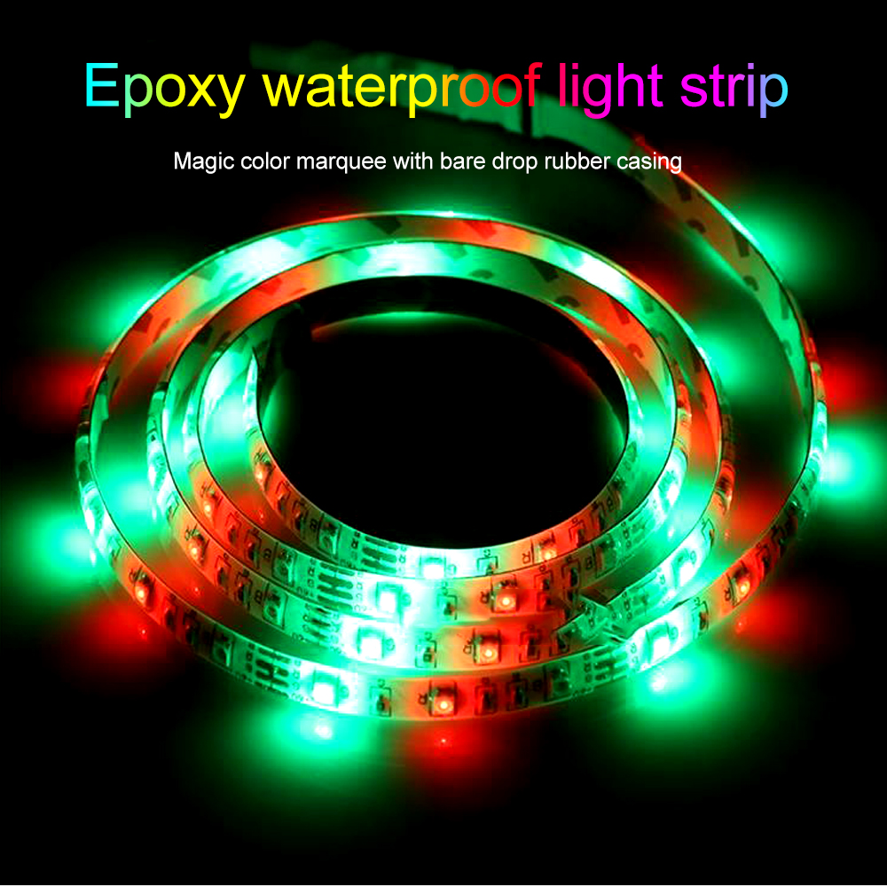 BRELONG Colorful SMD5050 150LED Epoxy Light Bar 5M Width 10MM - White