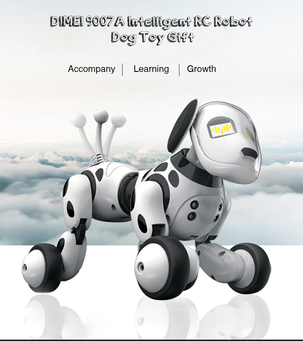 DIMEI 9007A Intelligent RC Robot Dog Toy- White
