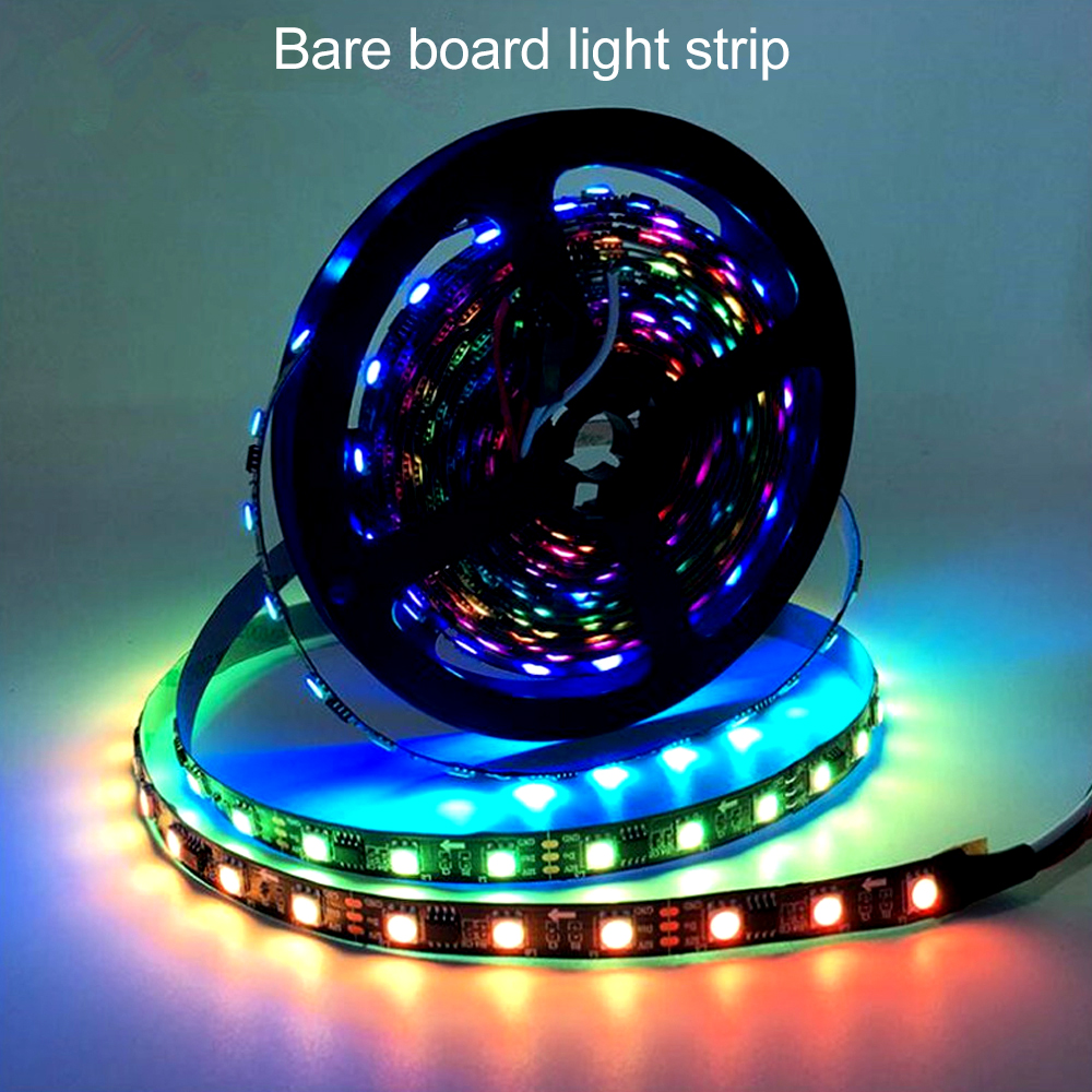 BRELONG Colorful SMD5050 150LED Bare Board Light Strip 5M Width 10MM - Black