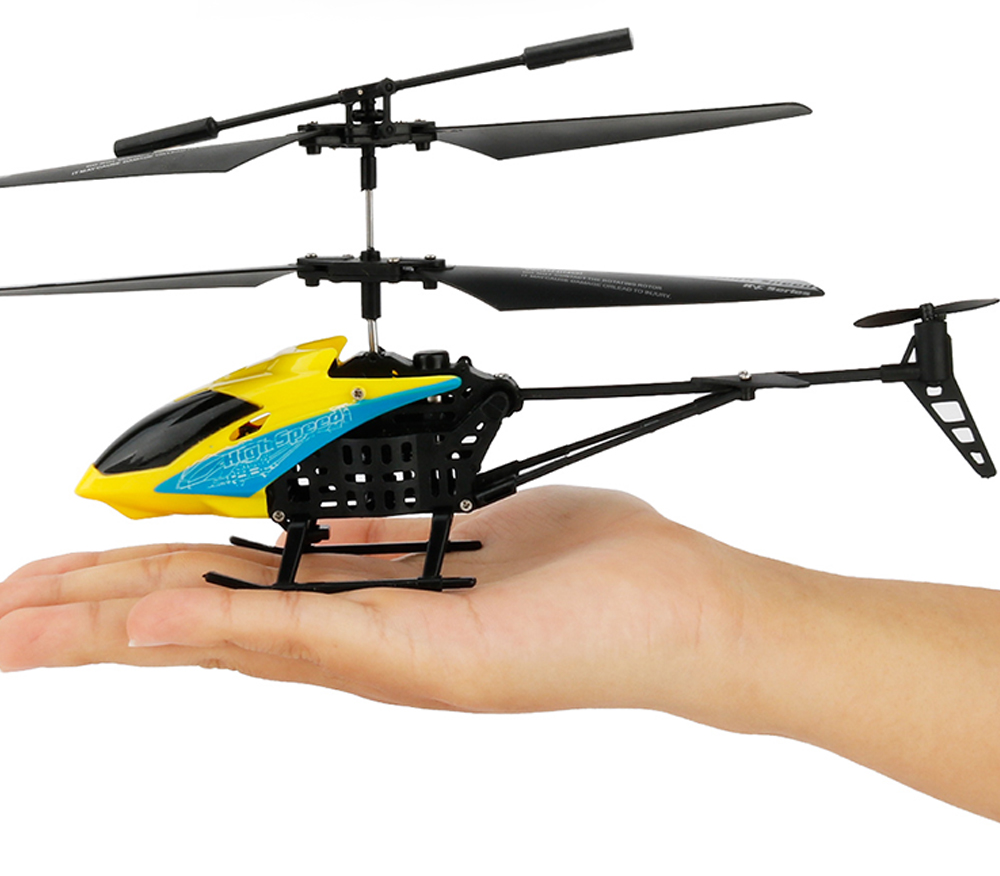 JX - 807 2CH Mini RC Helicopter Wearable Toy Gift for New Players- Yellow
