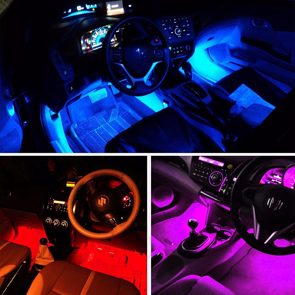 Switch with adjustable mode car solar neon colorful Car Interior Lighting MI