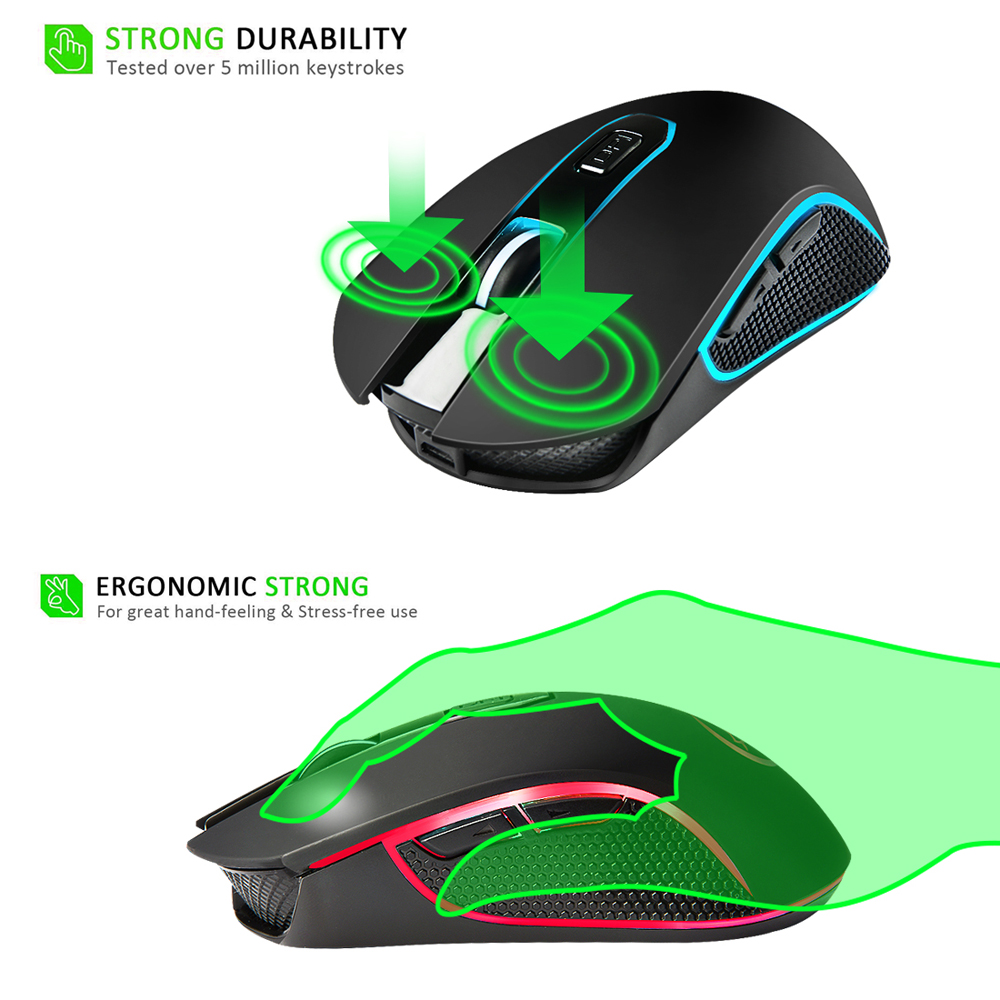 Wireless Charging Mouse USB Charging Colorful Light Gaming Mouse Computer Mouse