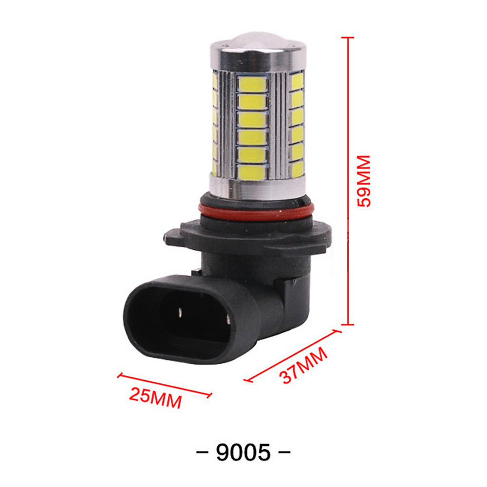 4Pcs H4 H7 H8 H11 9005 9006 33LED Car Fog Light Headlight Lamp Bulb SMD5630- Platinum 9006