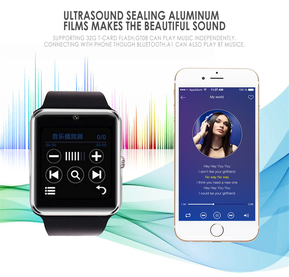 Z60 Smart Watch Bluetooth Android Support SIM TF Card Sync Notifier Messages