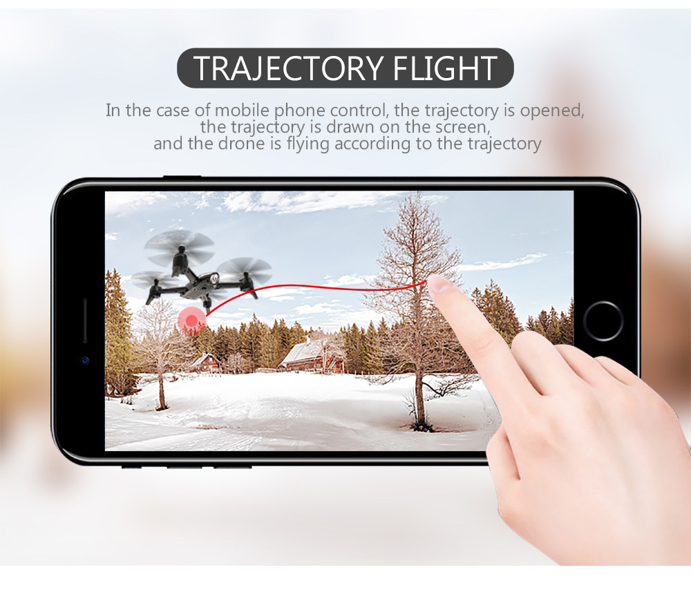 SG106 22 Mins Flight RC Drone RTF Optical Flow / Altitude Hold HD Dual Cameras Gesture Photo UAV- White 720P One Battery