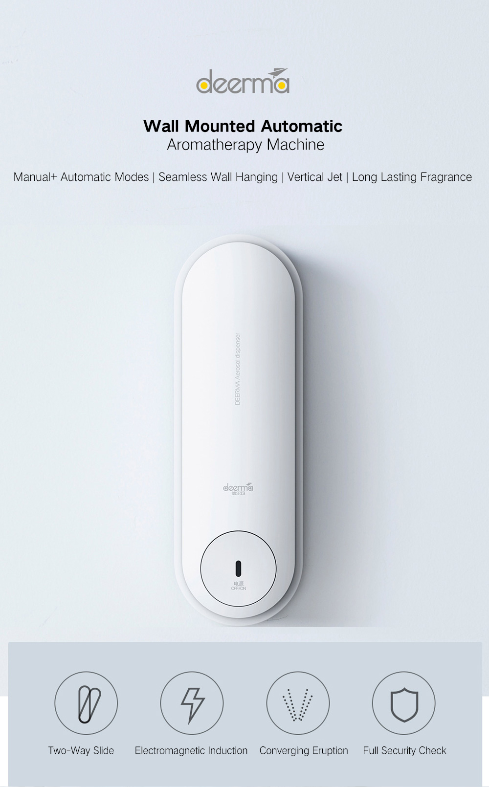 Deerma Dempx830 Slide Type Automatic Manual Aerosol Dispenser from Xiaomi Youpin- White