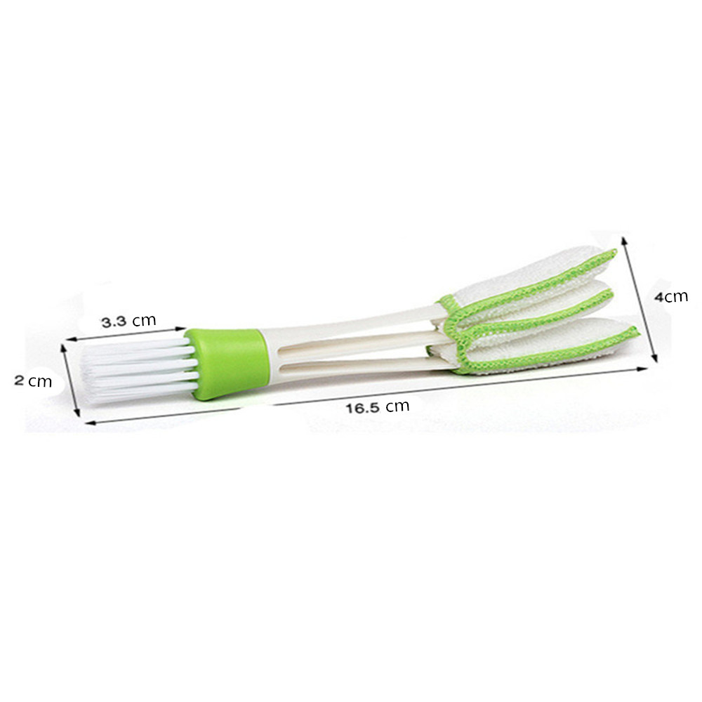 Three Green Clean Brushes for Car Home Keyboard- Green